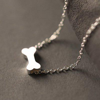 Fashionable Dull Polish Dog Bone Shape Necklace For Women