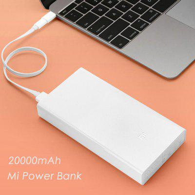 Original Xiaomi Mi 20000mah Mobile Power Bank Quick Charging 31 69 Online Shopping Gearbest Com