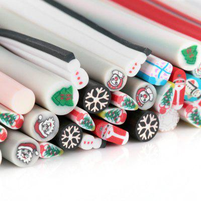 50pcs Art Nail 3D Manicure Design Sticks Rods Stickers Gel Tips