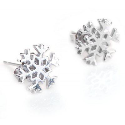 Stylish Women Jewelry Snowflake Design Stud Earrings