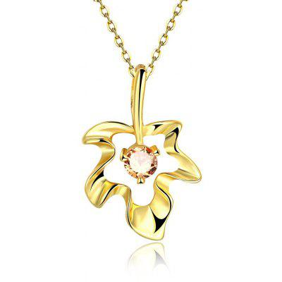N132 - A Zircon Necklace Fashion Jewelry 24K Gold Plating Necklace