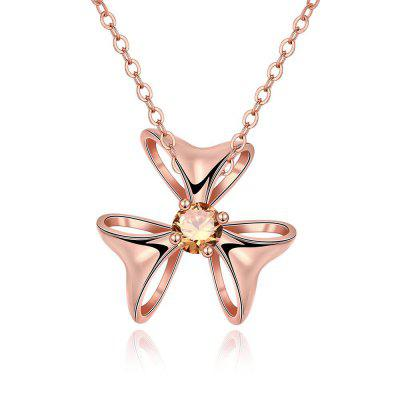 N133 - B Zircon Necklace Fashion Jewelry Rose Gold Plating Necklace