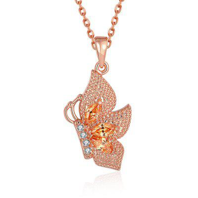 N131 - A Zircon Necklace Fashion Jewelry Rose Gold Plating Necklace