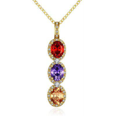 N118 - A Zircon Necklace Fashion Jewelry 24K Gold Plating Necklace