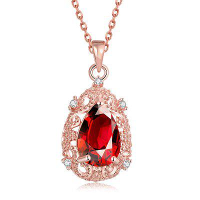 N108-B Zircon Necklace Fashion Jewelry Rose Gold Plating Necklace
