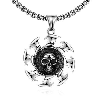 N039 Titanium Fashion Chain 316L Stainless Steel Vintage Pendant Necklace