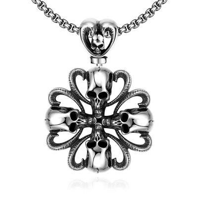 N030 Titanium Fashion Chain 316L Stainless Steel Vintage Pendant Necklace