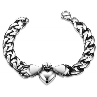 Male Fashion Bat Pattern 316L Stainless Steel Bracelet H006