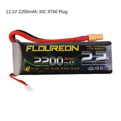 Extra Spare FLOUREON XT60 Plug 11.1V 2200mAh 30C Battery for RC Helicopter Airplane Boat Model