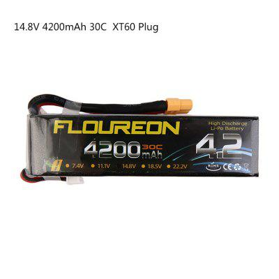 Extra Spare FLOUREON XT60 Plug 22.2V 4200mAh 30C Battery for RC Helicopter Airplane Boat Model
