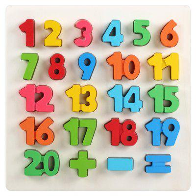 23Pcs QZM Colorful Counting Number Wooden Educational Learning Board