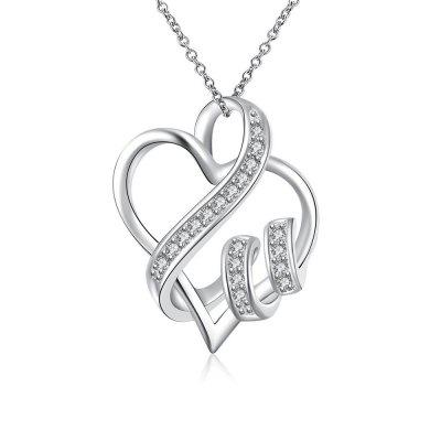 N715 Women Heart Shape Chain Necklace