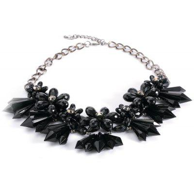 Stylish Crystal Flowers Cluster Chunky Choker Party Jewelry for Lady