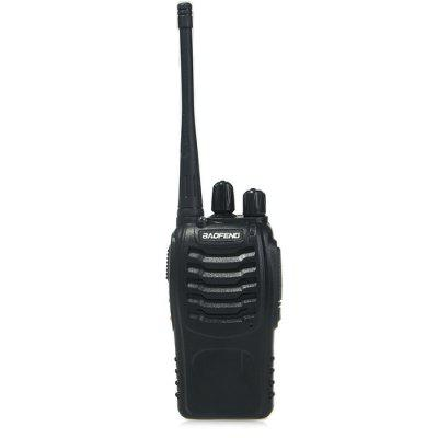 BAOFENG BF-888S Walkie TalkieWalkie Talkies<br>BAOFENG BF-888S Walkie Talkie<br><br>Adjacent Channel Power: 65dB (W) / 55dB (N)<br>Adjacent Channel Selectivity (wide/narrow): more than 65dB (W) / more than 55dB (N)<br>Antenna Impedance: 50ohm<br>Audio Distortion: 5 percent<br>Audio Power: 1W<br>Brand: Baofeng<br>Channels: Under 20 Channel<br>CTCSS/CTTCS Frequency Deviation (broadband/narrowband): 0.7 ± 0.1KHz (W) / 0.4 ± 0.1KHz (N)<br>Emission Current: less than 1200mA<br>Feature: Excellent Sound Quality, Long-lasting Battery Life<br>FM Noise (broadband/narrowband): 45dB (W) / 42dB (N)<br>Frequency Bands: UHF<br>Frequency Stability: ±2.5ppm<br>Intermodulation (broadband/narrowband): more than 65dB (W) / more than 55dB (N)<br>Main Functions: English voice prompt, Busy Channel Lockout (BCL), Monitoring, PC Programmable, Scan, Time-Out Timer (TOT), CTCSS/DCS, VOX<br>Maximum Frequency Deviation (broadband/narrowband): less than 5KHz (W) / less than 2.5KHz (N)<br>Model Number: BF-888S<br>Modulation Distortion: less than 5 percent<br>Operating temperature: -20 degree centigrade to +60 degree centigrade<br>Output Power (high/low): less than 5W<br>Package Contents: 2 x Walkie Talkie, 2 x Li-ion Battery, 2 x Recharge Stand, 2 x Belt Clip, 2 x Hanging Rope, 2 x English User Manual<br>Package Dimension: 23.00 x 23.00 x 5.50 cm / 9.06 x 9.06 x 2.17 inches<br>Package weight: 0.710 kg<br>Product Dimension: 12.00 x 6.00 x 3.00 cm / 4.72 x 2.36 x 1.18 inches<br>Product weight: 0.150 kg<br>Receiveing Sensitivity (broadband/narrowband): less than 0.20micro voltage (12dB SINAD)<br>Special function: Flashlight,  Low battery alarm,  Over-voltage protection,  Low-voltage protection,  Compression type,  Scrambling function