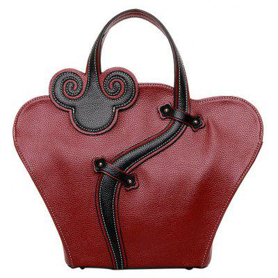 Vintage Cheongsam Shape and Embossing Design Women's Tote Bag