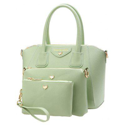 Elegant Candy Color and Letter Print Design Women's Tote Bag