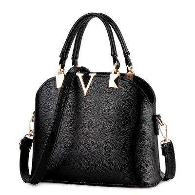 Elegant V-Shape and Embossing Design Women's Tote Bag
