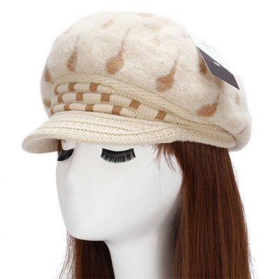Chic Tadpole Pattern Warmth Newsboy Hat For Women