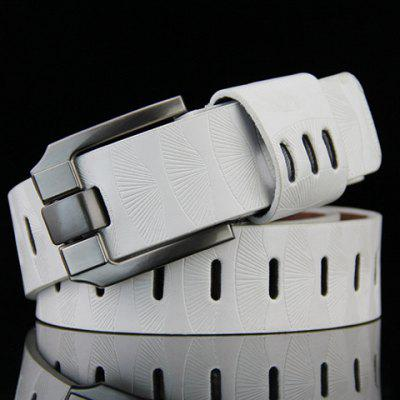 Pin Buckle Stripy PU Wide Belt For Men