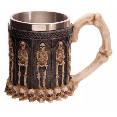 Cool Skeleton Design Stainless Steel 400ml Coffee Tea Cup