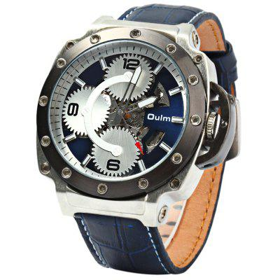 Oulm 3479 Men Automatic Mechanical Hollow-out Watch