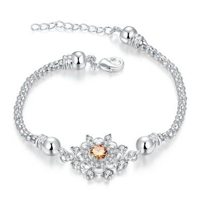 Silver Plated Multi-Color Diamond Bracelet H366