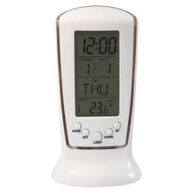 Vertical LED Digital Calendar Music Alarm Clock