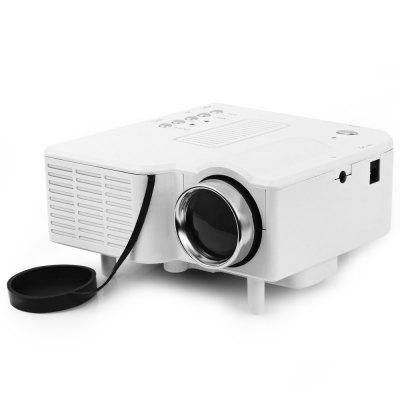 UC - 40 400 Lumens Two Colors Portable Home Mini LED Projector Support AV/SD/VGA/HDMI