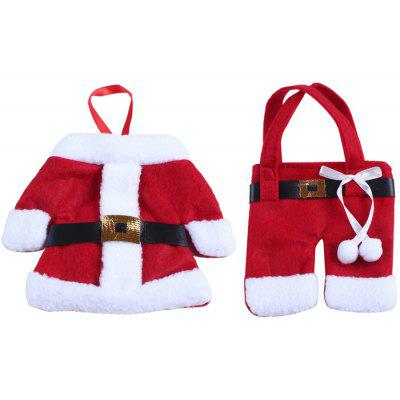 Christmas Santa Claus Jacket and Pant Style Bag