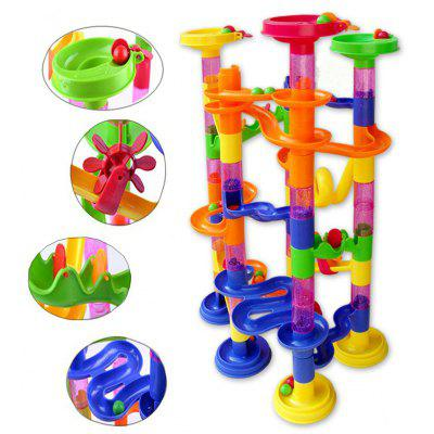 Track Marble Run Blocks DIY Construction Race Deluxe Toy 105pcs
