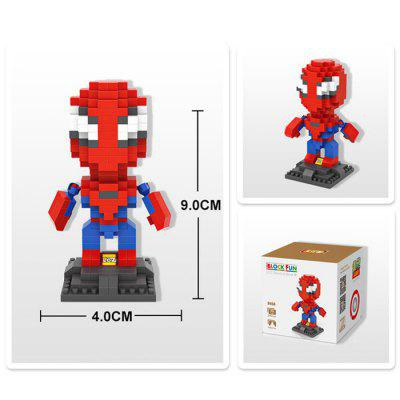 Loz 240pcs l - 9456 superhero building block toy for enhancing social...