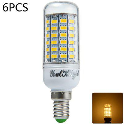 6pcs YouOKLight E14 1700Lm 18W SMD 5730 69 LED Corn Bulb Light