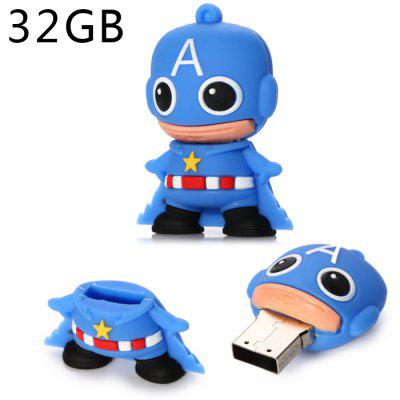 32GB Cute Boy Type USB 2.0 Flash Disk