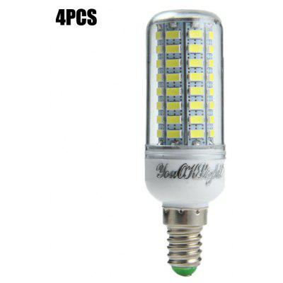 Buy 4pcs YouOKLight E14 15W SMD 5730 1500Lm LED Corn Light WHITE E14 for $16.60 in GearBest store