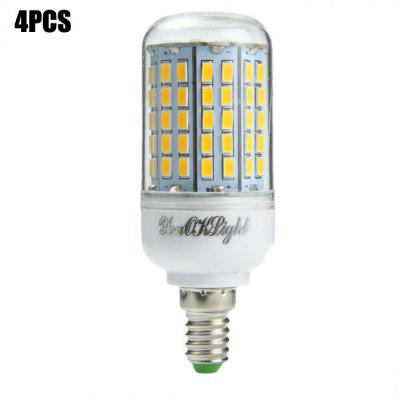 4 x YouOKLight E14 SMD 5730 18W 2000Lm LED Corn Light Bulb