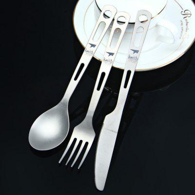 Keith KT310 3 in 1 Titanium Alloy ​Tableware Set
