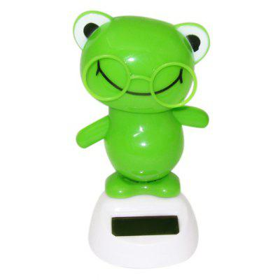 Solar Shaking Frog with Glasses
