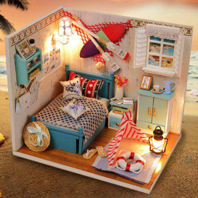 Buy Creative DIY Wooden Miniature Dollhouse AS THE PICTURE for $19.86 in GearBest store