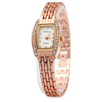 Golou L-616 Diamond Quartz Chain Watch for Women