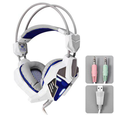KOTION EACH G3100 3.5mm USB Vibration Gaming USB Headphones