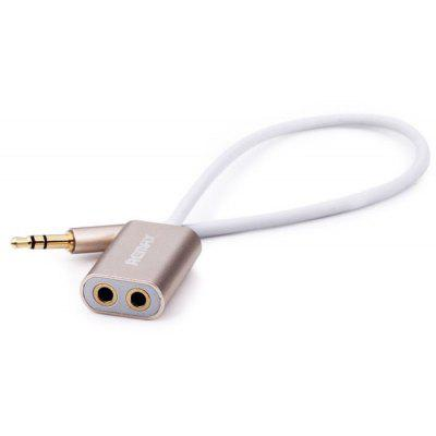 REMAX RL-S20 3.5mm Jack Audio Sharing Cable Support Earphone + Microphone Function 2-in-1 Cable