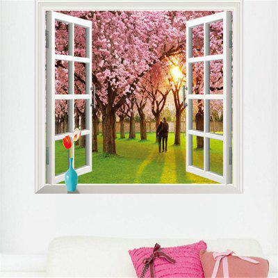 3D Romantic Cherry Tree PVC Wall Stickers