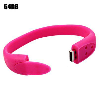 64GB USB 2.0 Flash Drive Bracelet Style