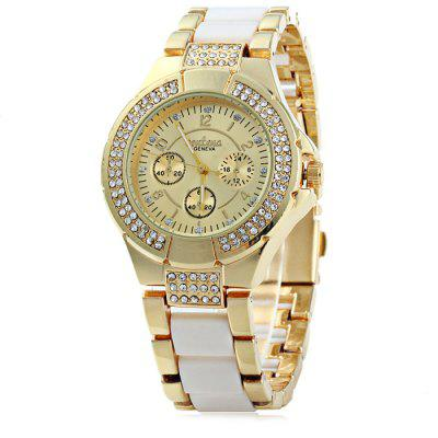 Geneva Ladies Luxury Diamond Bezel Quartz Watch