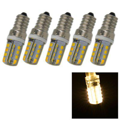 5PCS 3.5W E14 SMD 2835 240Lm LED Corn Bulb Light ( 3000K )