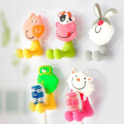 Frog Style Toothbrush HolderToothbrush &amp; Accessories<br>Frog Style Toothbrush Holder<br><br>For: All<br>Material: PVC<br>Occasion: Home, Bathroom, Bedroom, Others<br>Package Contents: 1 x Toothbrush Sucker Holder<br>Package size (L x W x H): 10 x 6 x 4 cm / 3.93 x 2.36 x 1.57 inches<br>Package weight: 0.070 kg<br>Product size (L x W x H): 7 x 7 x 4 cm / 2.75 x 2.75 x 1.57 inches<br>Product weight: 0.030 kg<br>Type: Practical