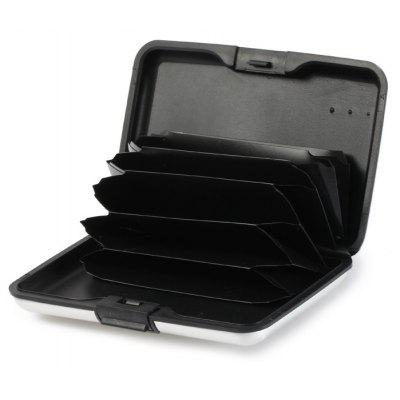 2 in 1 Practical 6 Black Slots Card Holder Wallet