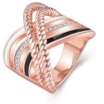Buy ROSE GOLD R754-B Nickle Free Antiallergic New Fashion Jewelry 18K Gold Plated Ring for $5.84 in GearBest store