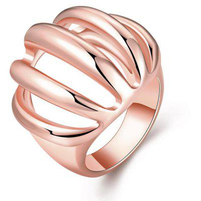 Buy ROSE GOLD R745-B Nickle Free Antiallergic New Fashion Jewelry 18K Gold Plated Ring for $4.96 in GearBest store
