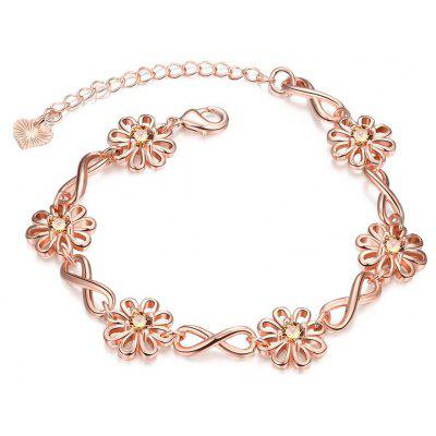 B027-B Graceful Inlaid White Zircon Different Types New Gift Bracelet